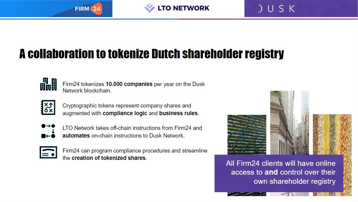 A slide from our event with Dutch blockchain ecosystem startups and companies on February 27.